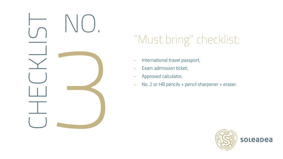 Must-Bring CFA Checklist