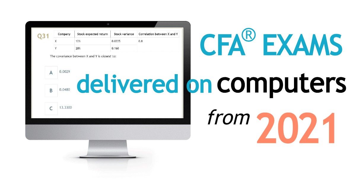 Computer-Based CFA Exams as of 2021
