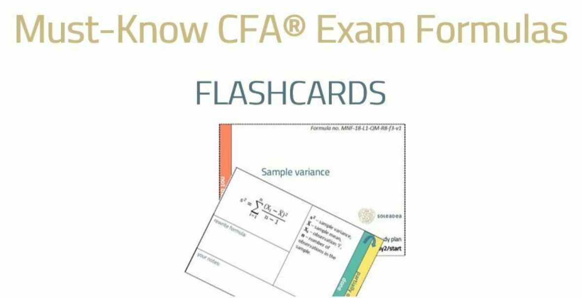 CFA Exam Formulas on Analyst Guide