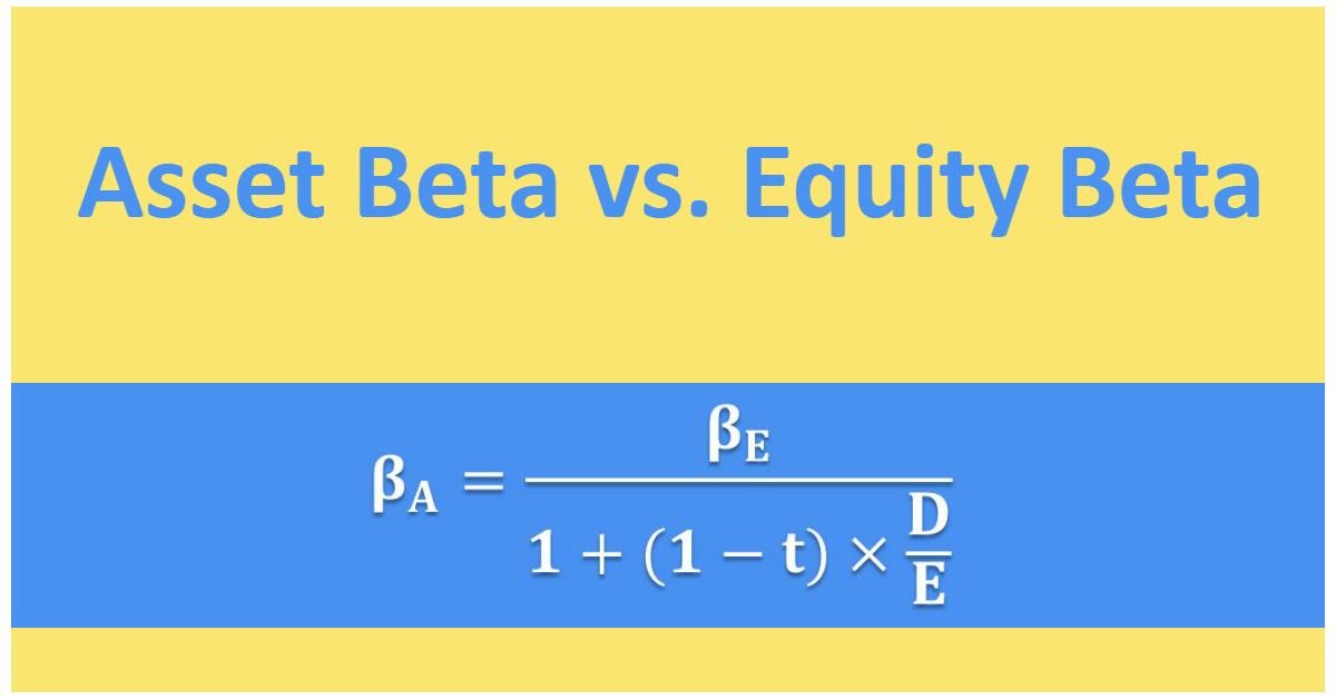 CFA Level 1: Asset Beta vs. Equity Beta