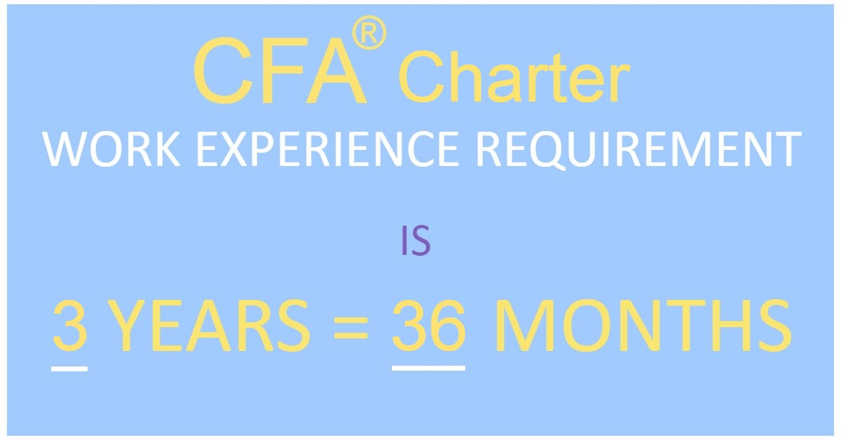 CFA Charter: Work Experience Requirements