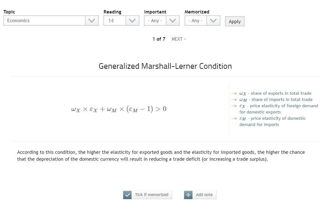 Level 1 CFA Exam Formulas APP