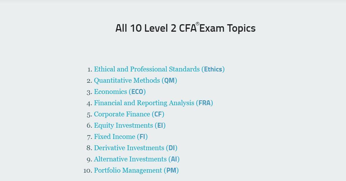Level 2 Cfa Exam Topics Key Things To Know Soleadea