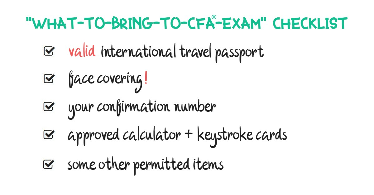 What-to-Bring CFA Exam Checklist